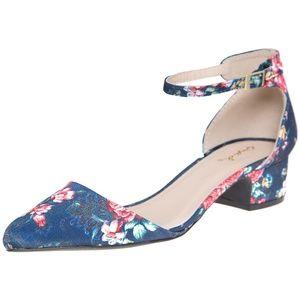 Shoes - Floral Ankle Strap Sandal